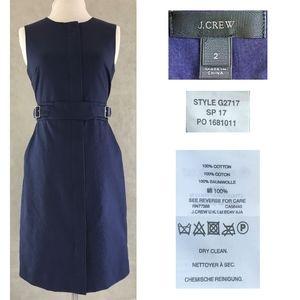 J CREW SPRING 17 Cotton Zip-Front Sleeveless Dress